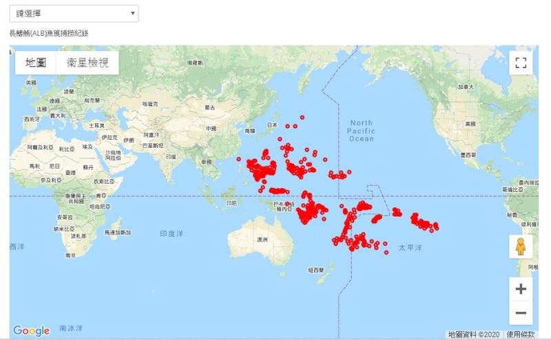 圖4、歷史漁獲地點分布圖。