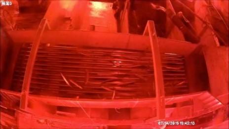 滿鱻12號漁船進行秋刀魚分級機具海上測試