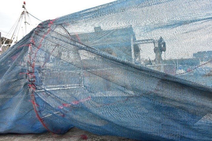 圖3、本團隊研發幼雜魚逃脫器的實景